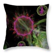 Abstract Virus Budding 1 Throw Pillow