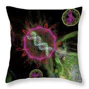 Abstract Virus Budding 2 Throw Pillow