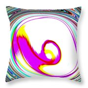 Abstract Vortex Throw Pillow