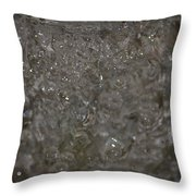 Abstract Water Spill Throw Pillow