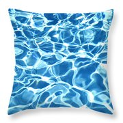 Abstract Water Throw Pillow by Tony Cordoza