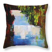 Abstract Waterfall Painting Throw Pillow