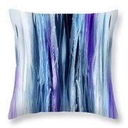 Abstract Waterfall Purple Flow Throw Pillow