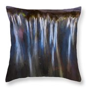 Abstract Waterfalls Childs National Park Painted  Throw Pillow