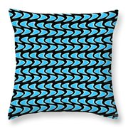 Abstract Waves On A Black Background Throw Pillow