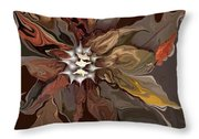 Abstract Whispering Leaves Throw Pillow