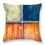 Abstract Window Throw Pillow