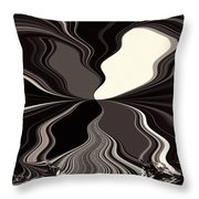 Abstract Wings In Black Throw Pillow
