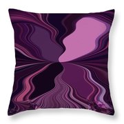 Abstract Wings In Plum Throw Pillow
