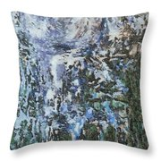 Abstract Winter Landscape Throw Pillow