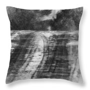 Abstract Winter Storm Throw Pillow
