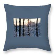 Abstract Winter Sunset Throw Pillow
