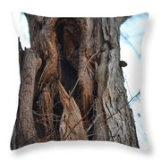 Abstract Winter Tree Throw Pillow