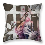 Abstract Woman 001 Throw Pillow