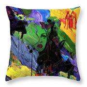 Abstract Women 014 Throw Pillow