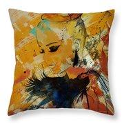 Abstract Women 010 Throw Pillow
