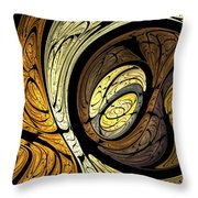 Abstract Wood Grain Throw Pillow