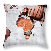 Abstract World Map - Chocolates - Confections - Candy Shop Throw Pillow