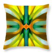 Abstract Yellowtree Symmetry Throw Pillow by Amy Vangsgard