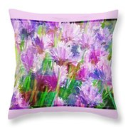 Abstracted Clovers Throw Pillow
