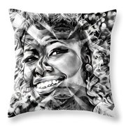 Abstracted Lady Throw Pillow