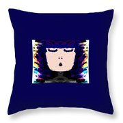 Abstracted Lady Throw Pillow by Caroline Gilmore