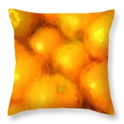 Abstracted Oranges Throw Pillow