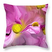 Abstracted Pink Throw Pillow