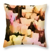 Abstracted Tulips Throw Pillow