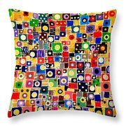 Abstraction 0449 Marucii Throw Pillow