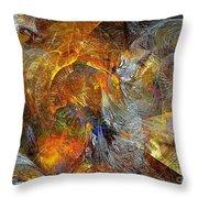 Abstraction 435-08-13  Marucii Throw Pillow