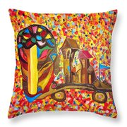 Abstraction 445 - Marucii Throw Pillow