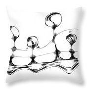 Abstraction 489-10-13 Maruci Throw Pillow