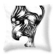 Abstraction 490-10-13 Maruci Throw Pillow