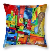 Abstraction 599-14 - Marucii Throw Pillow