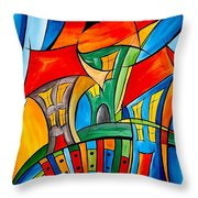 Abstraction 756 - Marucii Throw Pillow