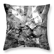 Abstraction B-w 0511 - Marucii Throw Pillow