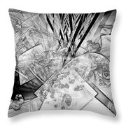 Abstraction B-w 0548 - Marucii Throw Pillow