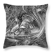 Abstraction B-w 0559 Marucii Throw Pillow