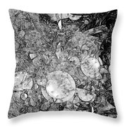 Abstraction B-w 0572 - Marucii Throw Pillow