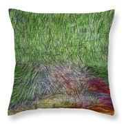 Abstraction Of Life Throw Pillow