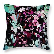 Abstraction Red And Green Throw Pillow