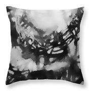 Abstraction Under Microscope Throw Pillow