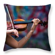 Abstracts From Vivaldi - Featured 3 Throw Pillow