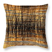 Abstract Reed And Water Patterns Throw Pillow