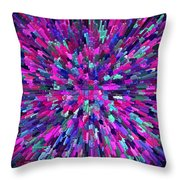 Abstrract Cubes Violet Throw Pillow