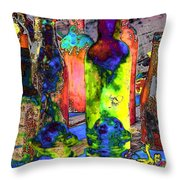 Absynthe Minded Throw Pillow