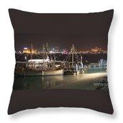 Abu Dhabi At Night Throw Pillow