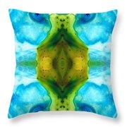 Abundant Life - Pattern Art By Sharon Cummings Throw Pillow