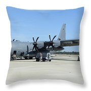 Ac-130j Ghostrider At Hurlburt Field Throw Pillow